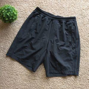 Lululemon | Men's Solid Black Lined Shorts Small
